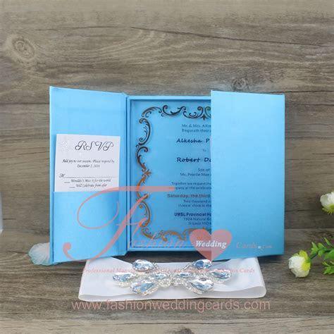Acrylic Wedding Invitations with Silk Box,Plexiglass