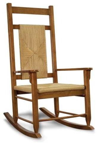 Tortuga Outdoor Traditional Wooden Rocking Chairs - Woven Oak ...