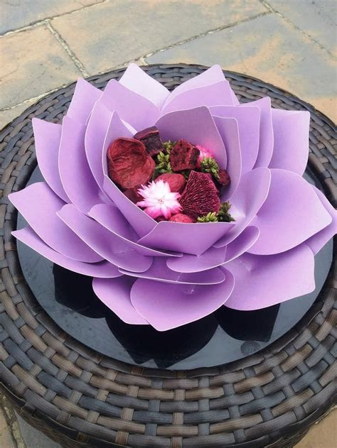 Creative Lesley: Giant paper Lotus flower   Craft Ideas