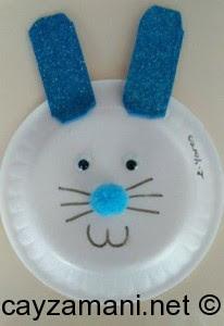 Plastik Tabaktan Tavşan Yapımı çay Zamanı