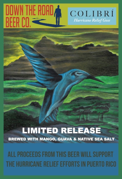 Beer For Good Colibri Puerto Rico Hurricane Relief Gose Down The