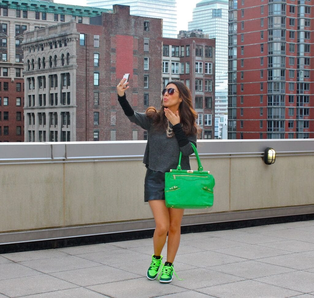 girls in green jordans