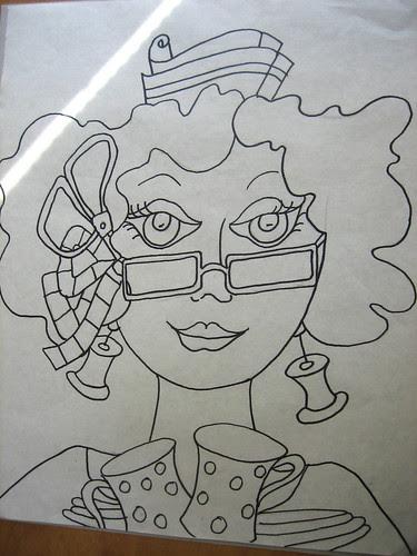 The drawing #3 in Ladies Series
