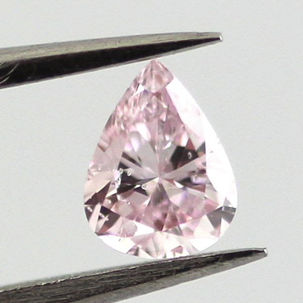 Fancy Purplish Pink Diamond, Pear, 0.19 carat, I1