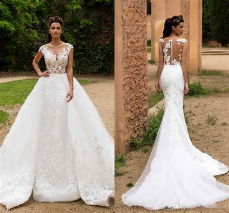 Milla Nova 2017 Mermaid Wedding Dresses With Detachable