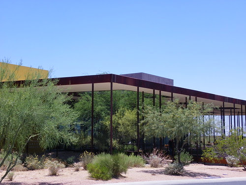 View across to Desert Broom Library