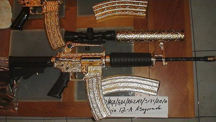 Drug Lord's Diamond-Studded Guns (9 pics)