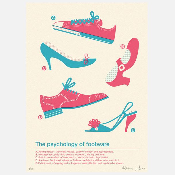 Footwear Psychology Print