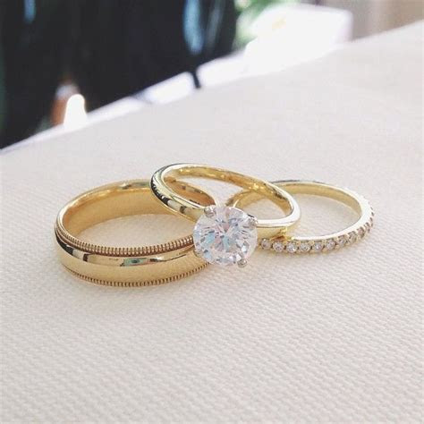 gold engagement rings ideas  pinterest