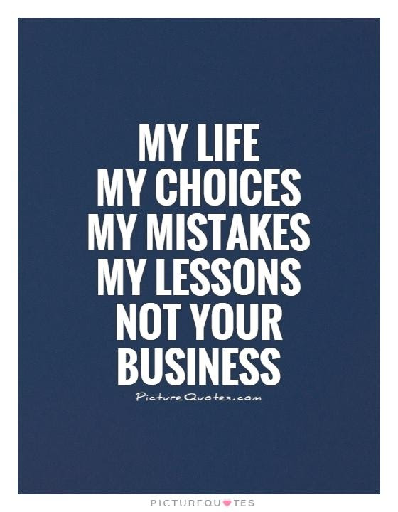 Mind Your Own Business Quote Quote Number 613535 Picture Quotes