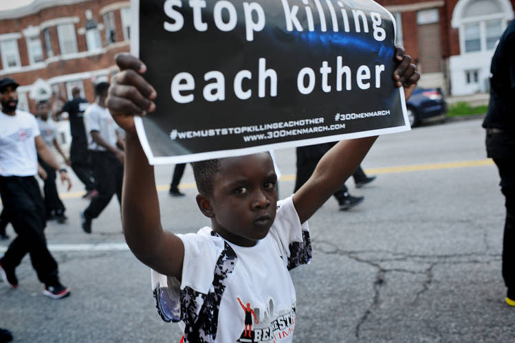 At Baltimore's third annual 300 Men March, July 10.