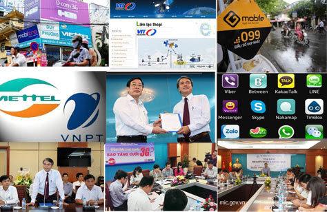 toàn cảnh, viễn thông, 2013, OTT, 3G, tăng cước, tái cấu trúc, VNPT, Viettel, đứng đầu,