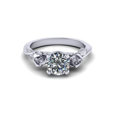 Delicate Rose Engagement Ring   Jewelry Designs