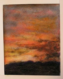 Permutations in Fiber: Needle Felted Wool Paintings