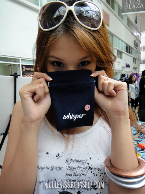 whisper pouch with a button