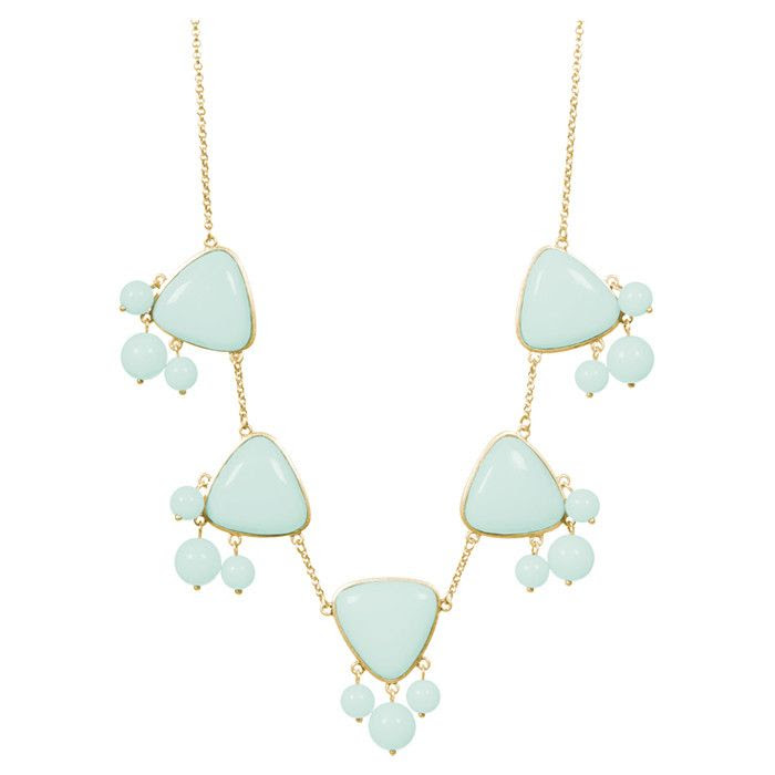 Emma Grace Necklace in Mint Green