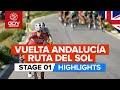 Vídeo resumen de la 1ª etapa de la Vuelta Andalucía 2020