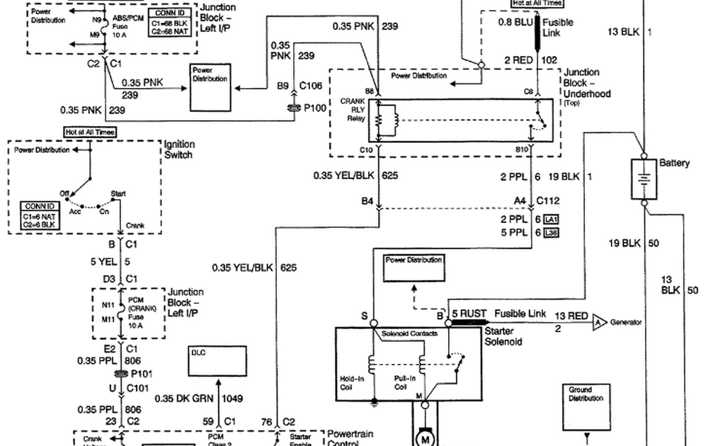 schematics and diagrams: 2004 Chevy Monte Carlo: It cranks ...