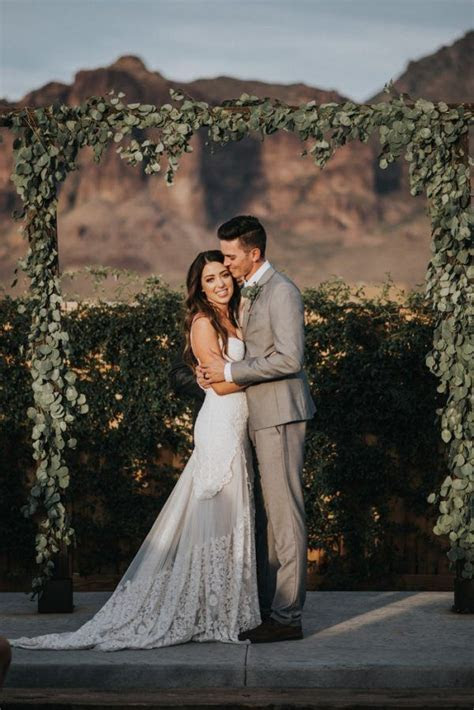 Boho Arizona Desert Wedding at The Paseo   Junebug Weddings