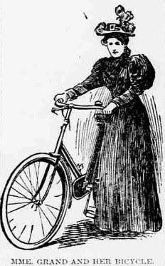 Sarah Grand with Bicycle