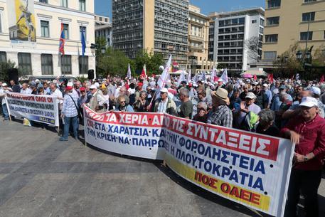 Αποτέλεσμα εικόνας για proteste ad Atene 25 aprile 2018