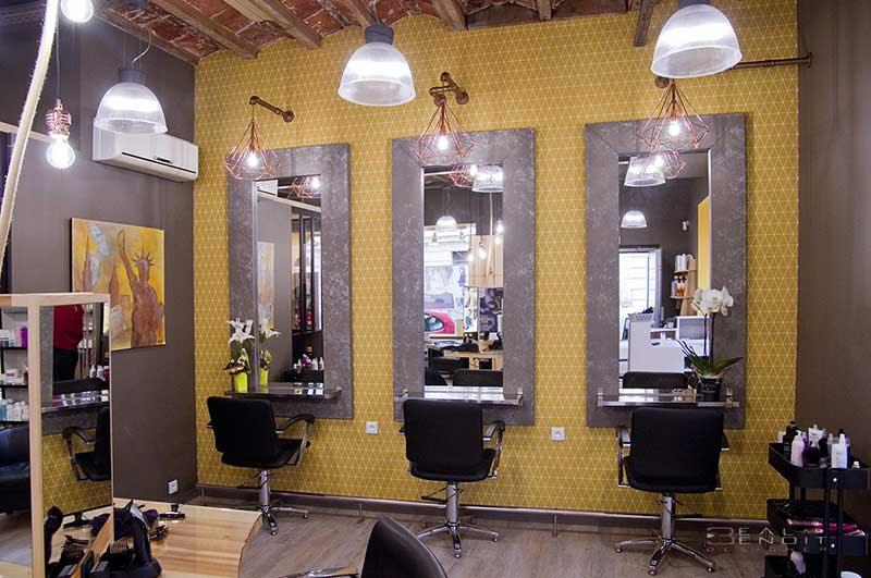 Design Despace Dagencement De Commerce Salon De Coiffure St Etienne
