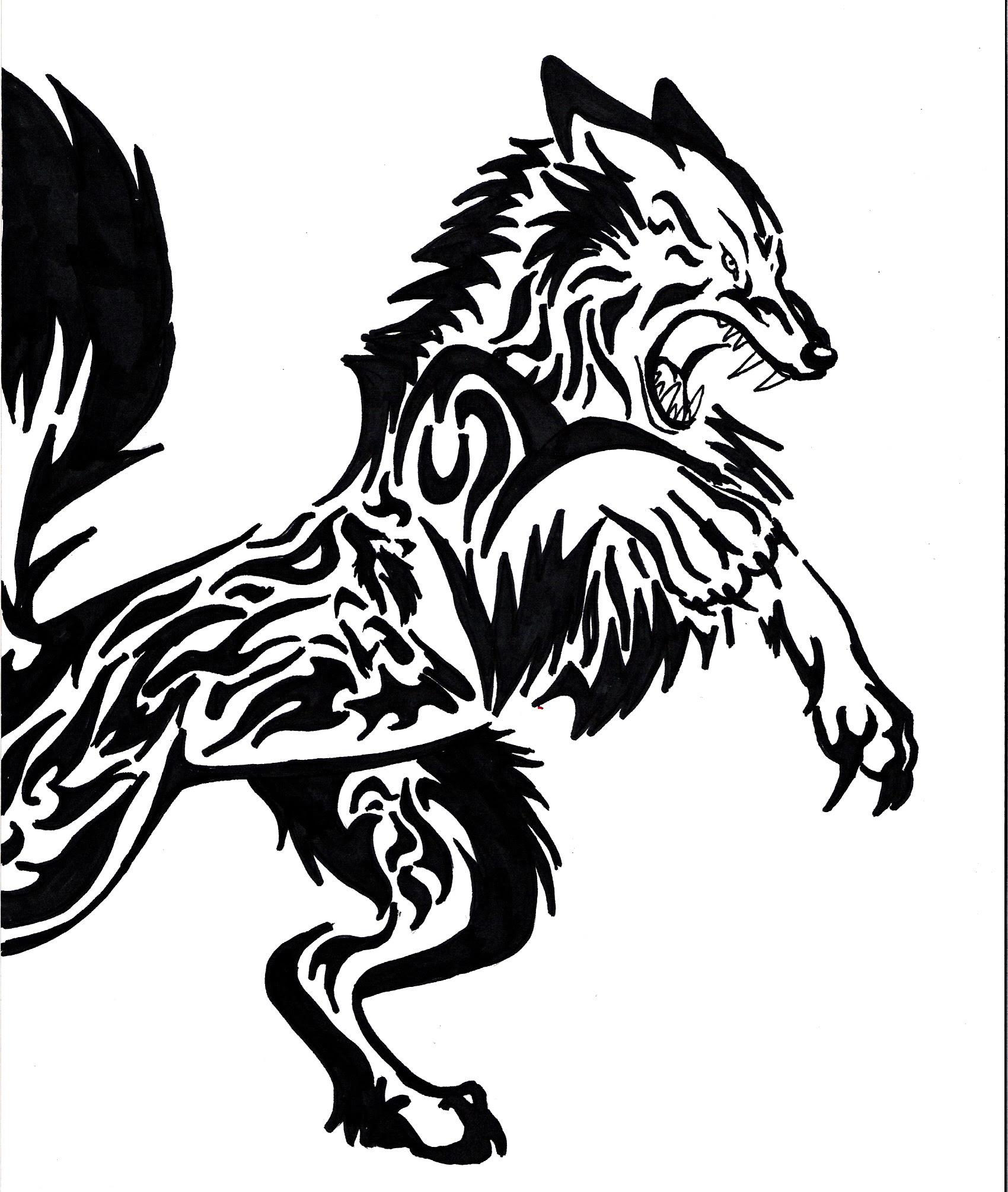 Wolves Dream Catcher Coloring Pages Sketch Coloring Page