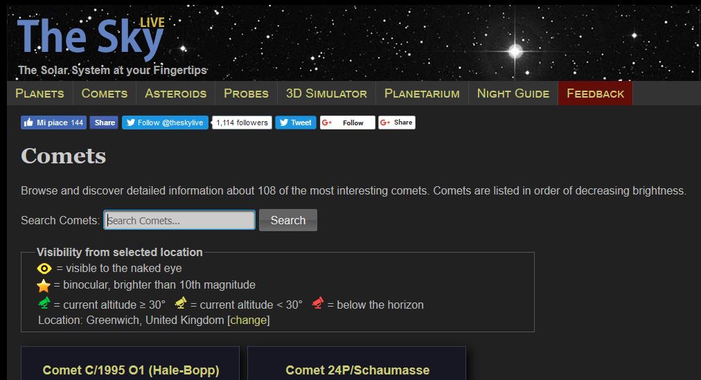Una página Web muy visual