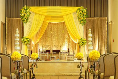 yellow fabric style Mandap   Mandaps   Wedding decorations