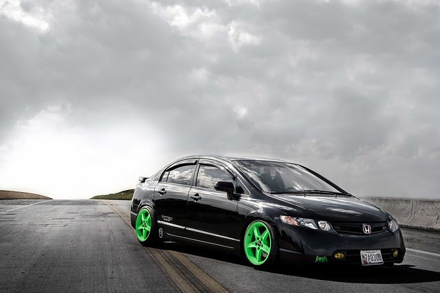 Stanced Civic Si 8th Gen
