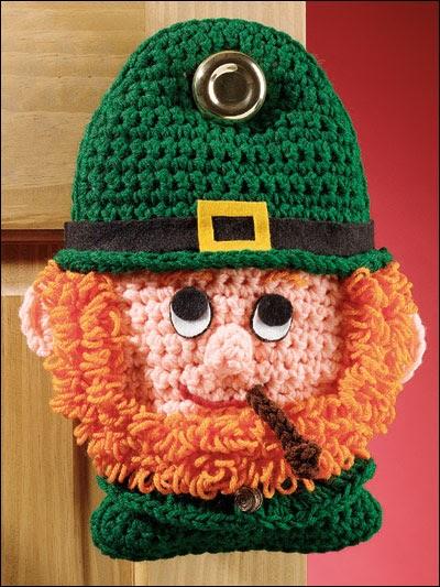 Download A Free Crochet Leprechaun Door Hanger