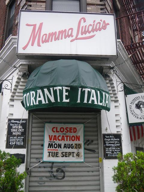 Mamma Lucia's - closed anyways!