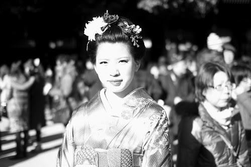 A young woman celebrating Seijin No Hi