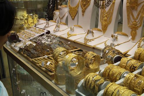 Gold Bracelets at Dubai Souk