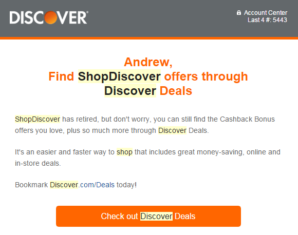 Shop Discover Changed Their Name To Discover Deals