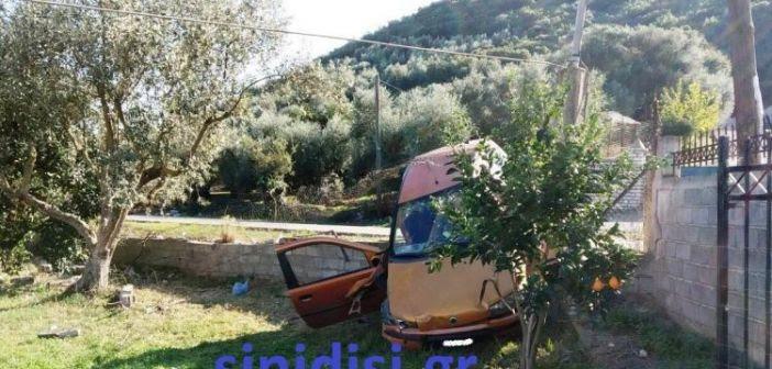 Αυτοκίνητο «προσγειώθηκε» σε λιοστάσι στον Άγιο Αθανάσιο Αιτωλικού! (ΔΕΙΤΕ ΦΩΤΟ)