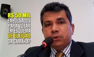 Enfermeiro Hélio é acusado de receber propina para votar em candidato do prefeito na Eleição da Mesa Diretora da Câmara