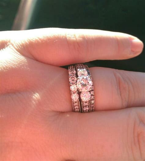 Wedding band  inside or outside of the engagement ring
