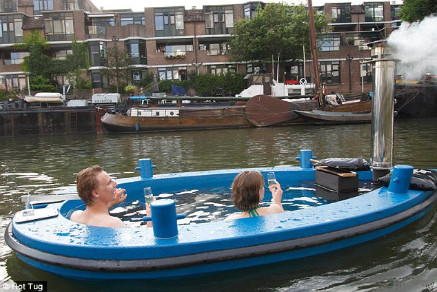 Full steam ahead! The 'Hot Tub' boat which can let you lazily cruise