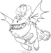 Drawing Dragon Trainer Coloring Page