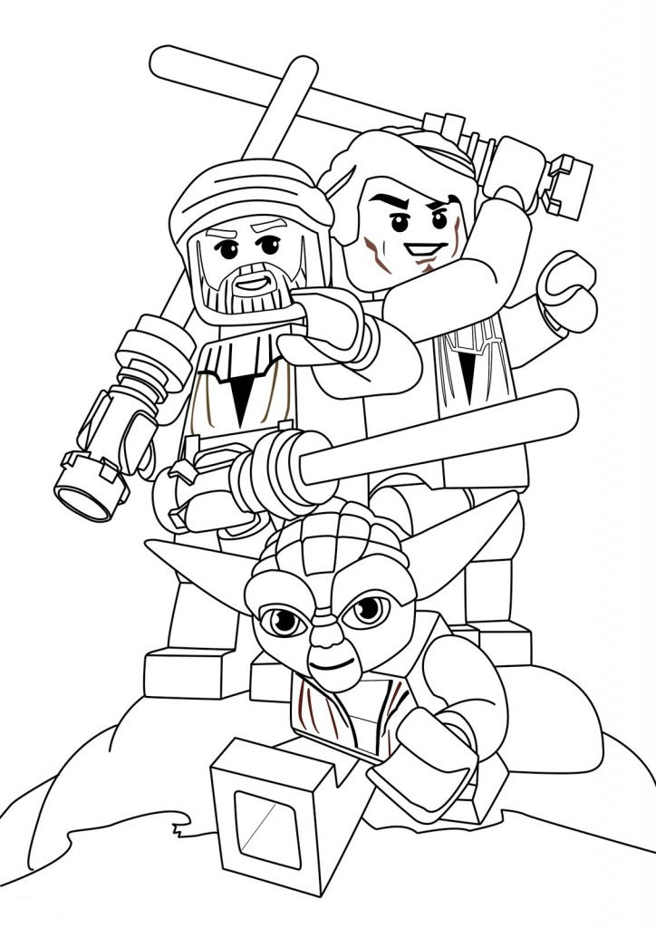 Lego Yoda Star Wars Coloring Pages 724x1024
