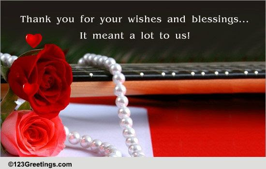 Thank You For The Wishes Free Wedding Anniversary Ecards 123