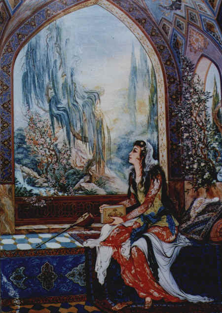 Image result for laila dan majnun art