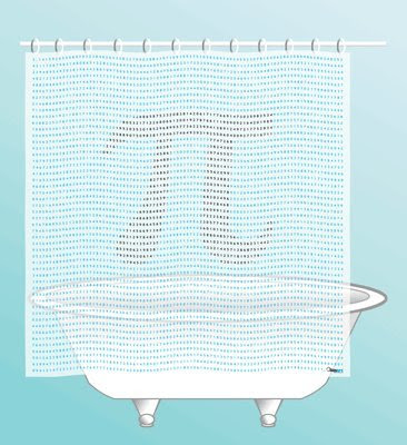 math and science shower curtain · Novelty Shower Curtains