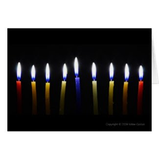 Blank Customizable Chanukah Greeting Card 2