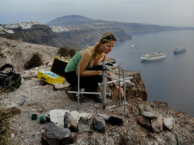 Santorini (Foto: Becca Neely/Universidade de Oxford/Divulgação)