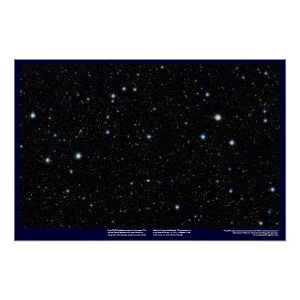 Widest, deep starfield ever, using infrared light! posters