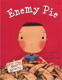 Hardbound copy of Enemy Pie, signed by the author