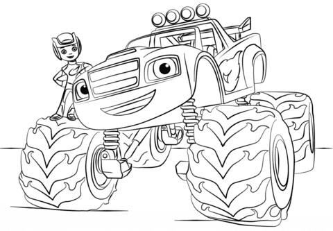 Ausmalbild Blaze Monster Truck Ausmalbilder Kostenlos Zum Ausdrucken