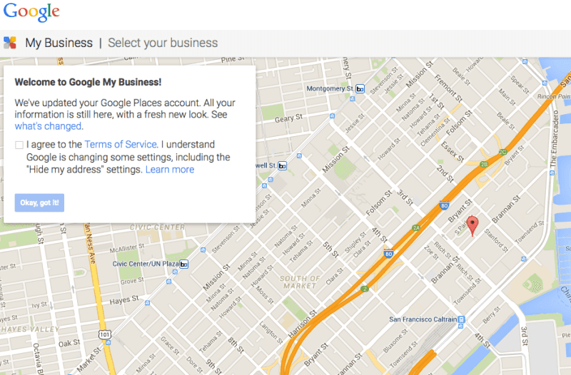 Update business listings Google